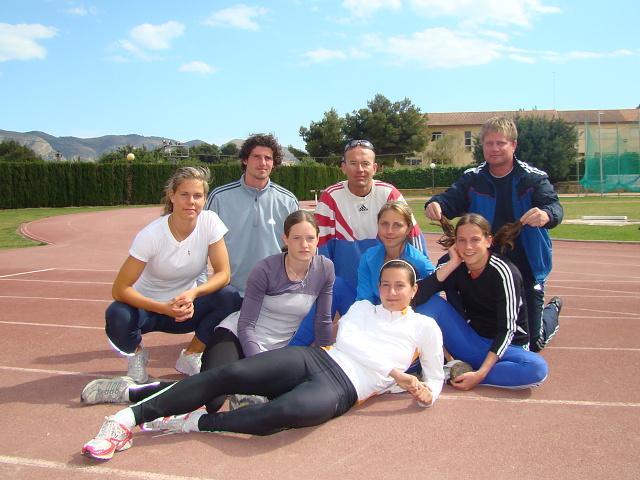 Soustředění atletických skupin Španělsko