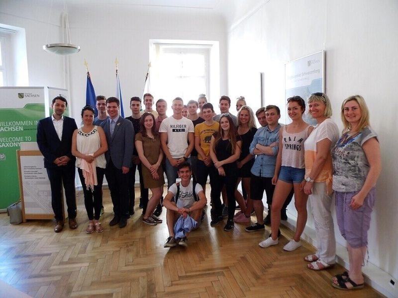 Návštěva Bavorského aSaského zastoupení vPraze
